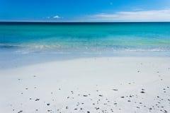 沙子海运绿松石白色 图库摄影