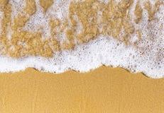 沙子海顶视图 免版税库存图片