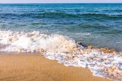 沙子海滩和通知 免版税库存图片