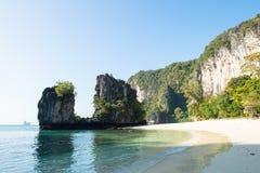 沙子海滩背景 免版税库存图片