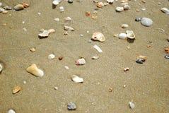 沙子海滩 免版税库存照片