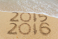 2016沙子海滩 免版税图库摄影