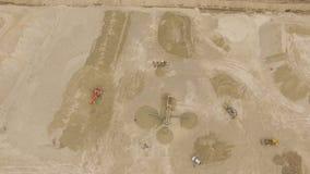 沙子猎物空中自上而下的看法  股票录像