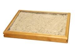 沙子疗法箱子 图库摄影
