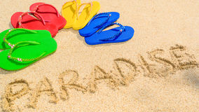 沙子的天堂 免版税库存图片