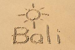沙子的巴厘岛 图库摄影