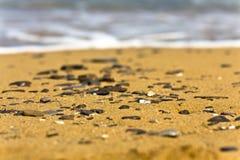 沙子石头 免版税库存图片