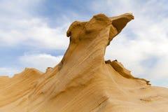 沙子石头在沙漠 库存照片
