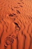沙子脚步 免版税库存照片