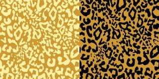 沙子色豹子打印变异 纺织品、T恤杉、袋子、海报、剪贴薄和其他设计的无缝的时尚墙纸 向量例证