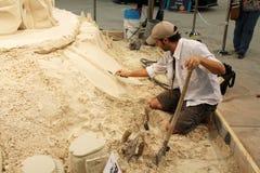 沙子艺术家2015年 库存照片