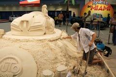 沙子艺术家2015年 库存图片