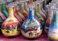 沙子艺术纪念品,约旦 免版税库存照片