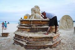 沙子艺术 免版税库存图片