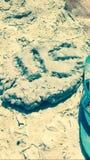 沙子艺术 免版税库存照片