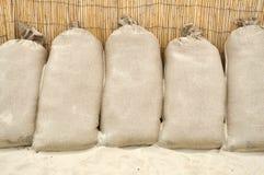 沙子袋子 免版税库存图片