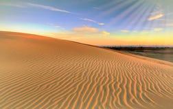 沙子起波纹沙丘北卡罗来纳背景 免版税库存照片
