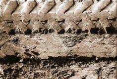 沙子跟踪轮胎 免版税图库摄影