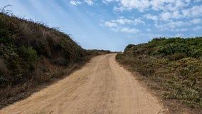 沙子路在阿尔加威 免版税库存照片