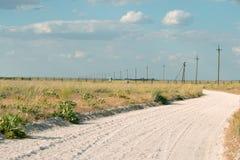 沙子路 免版税库存图片