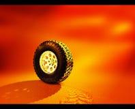 沙子轮胎 库存照片