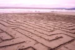 沙子迷宫 免版税库存图片
