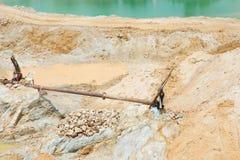 沙子采矿活动 免版税库存图片