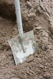 沙子铁锹 库存照片