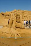 沙子雕刻家 库存图片