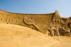 沙子雕刻家 库存照片