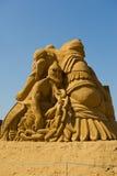 沙子雕刻家 免版税图库摄影