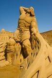 沙子雕刻家 免版税库存图片