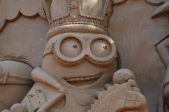 沙子雕塑在彼得和保罗堡垒 库存图片