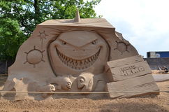 沙子雕塑在彼得和保罗堡垒 免版税图库摄影