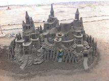 沙子雕塑在特内里费岛 图库摄影