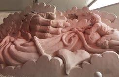 沙子雕塑童话 免版税库存照片