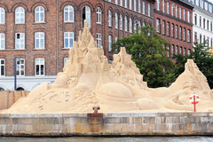 沙子雕塑节日在哥本哈根 图库摄影