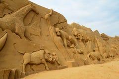 沙子雕塑节日 图库摄影