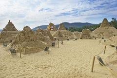 沙子雕塑 免版税库存图片