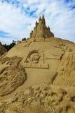 沙子雕塑 图库摄影