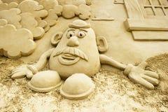 沙子雕塑 库存图片