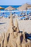 沙子雕塑 免版税库存照片