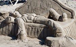 沙子雕塑 库存照片