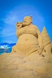 沙子雕塑 免版税图库摄影