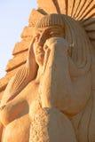 沙子雕象妇女 库存图片