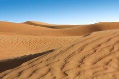沙子风景在沙漠 免版税库存图片