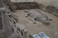 沙子鳄鱼 免版税库存照片