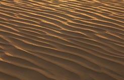 沙子结构在沙漠 免版税库存照片