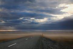 沙尘暴在冰岛 免版税库存照片