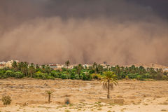 沙尘暴在加夫萨,突尼斯 库存图片